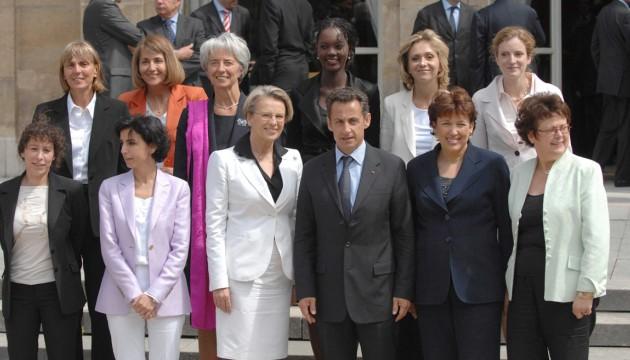 Les ministres femmes du premier gouvernement Fillon (WITT/CHESNOT/SIPA)