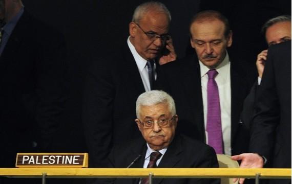 Mahmoud Abbas au siège de l'ONU à New York le 21 septembre 2011 (E. DUNAND/AFP)
