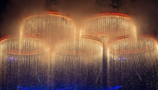 Les anneaux olympiques Londres 2012
