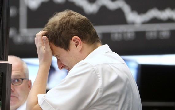 Un trader à la Bourse de Francfort, le 05/09/11 (Michael Probst/AP/SIPA)