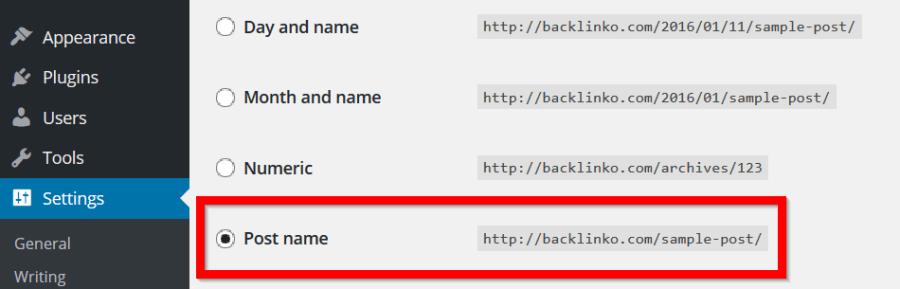 wordpress-URL-permalinks