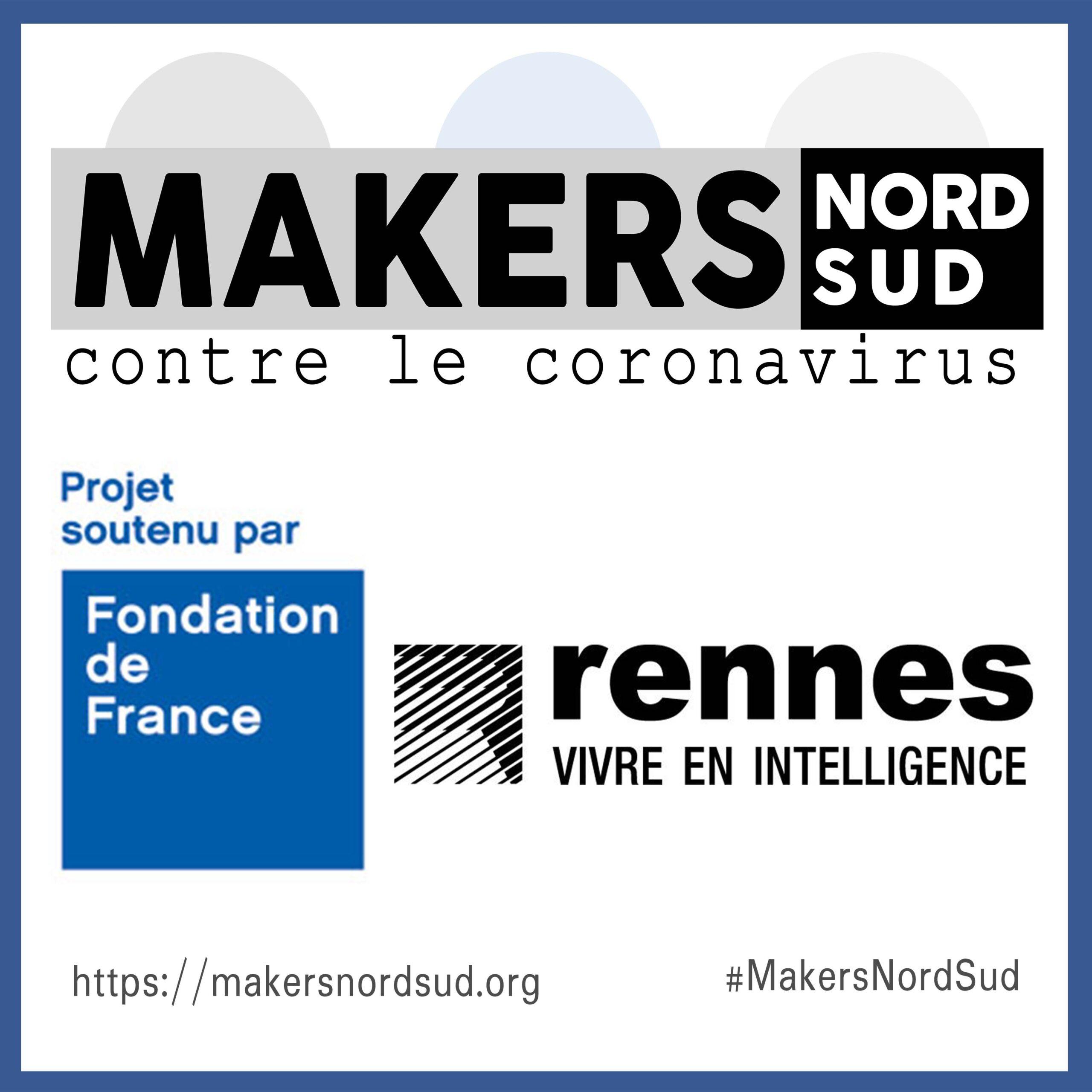 MakersNordSud : Soutien de Rennes Villes et Métropole et de la Fondation de France