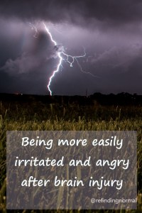 easily angry and irritated after brain injury, pin