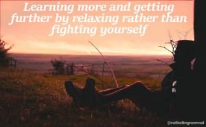 verder komen door te ontspannen
