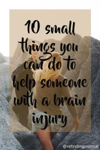 pin help someone with brain innjury