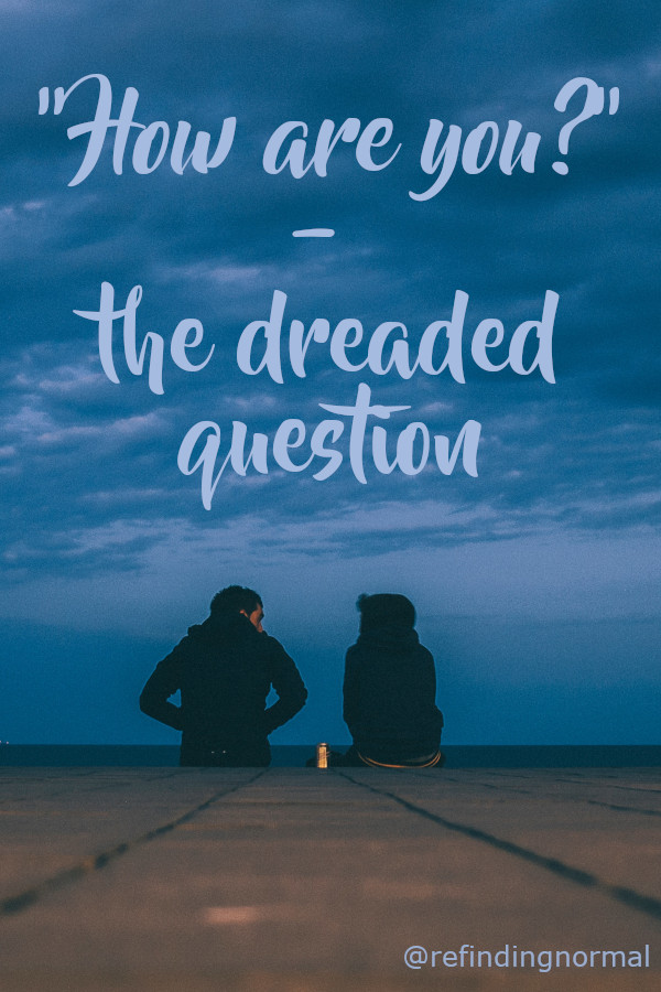Pinterest pin Image for this post with the title and the silhouette of two people sitting on the ground with a clouded dark sky overhead