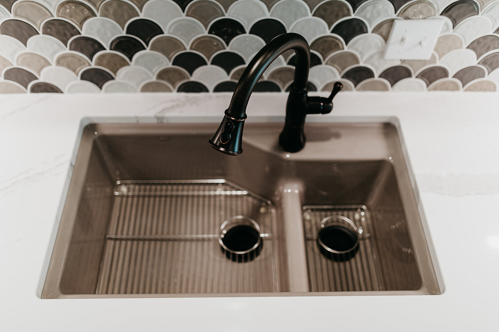 Sleek kitchen sink