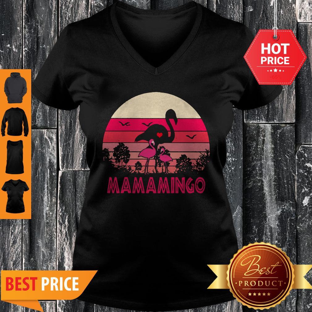 Good Flamingos Mamamingo Sunset V-Neck