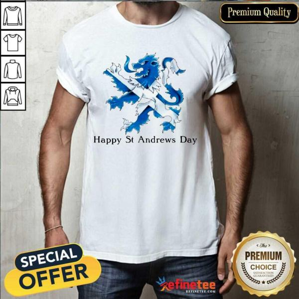Beautiful St Andrew's Day Celebration Lion Shirt - Design By Refinetee.com