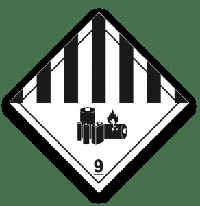 ADR označenie, Lítiové batérie