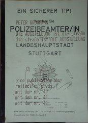 reflection press Nr. 41: Peter Grohmann: Die Ausstellung ist die Straße...