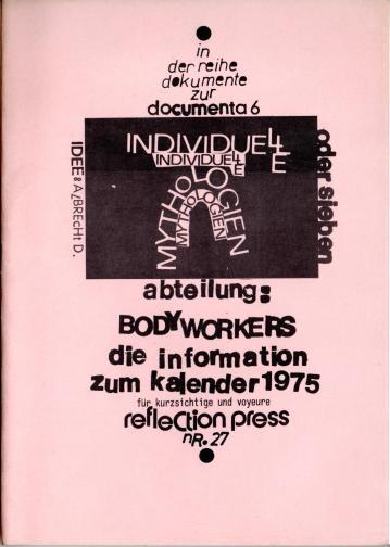 BODY WORKERS - die Information zum Kalender 1975. DIN A5, Klammerheftung, Privatbesitz