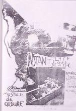 """Plakat zur Instant Life/Love/Death-Performance am 17.04.1982 in Paris, dokumentiert in """"Kinky Copies"""". Sammlung Georg Mühleck."""