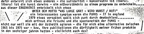 Albrecht/d. über Punk 1979. Sammlung Ralf Siemers.