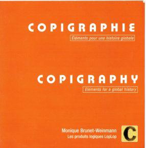 """""""Copigraphie - Eléments pour une histoire globale"""" ist ein elektronischer Katalog von Monique Brunet-Weinmann. Er versammelt 85 Künstler aus 18 Ländern. Erschienen 2000 in Montréal. Albrecht/d. ist einer von 9 vertretenen Künstlern aus Deutschland"""