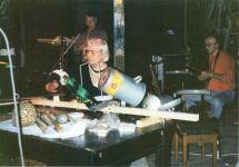 Abstract Energy-Konzert in der manufaktur Schorndorf, 18.01.1992, links Franz Dreyer, rechts: Steffen Bremer