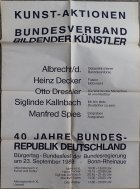Plakat Kunstaktionen 1980