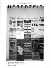 Publikation der galerie im zwinger zum 10-jährigen Bestehen. Sie enthält 4 Seiten zu Albrecht/d.