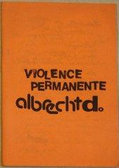 """Heft """"Violence Permanente"""", Sammlung Decker"""