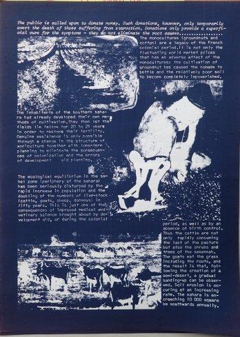 "Plakat ""Drought in Africa"", Rückseite"