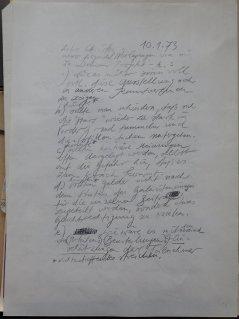 """Briefentwurf an Christos Joachimides anlässlich """"Kunst im Politischen Kampf"""", Hannover, 1973"""