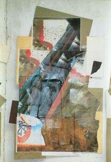 Copy-Collage mit Nashorn 1993