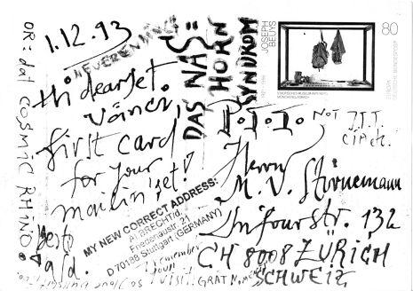 Schreiben an M. Vänci Stirnemann 01.12.1993