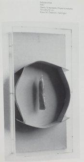 "Objekt ""Selbstportrait"", 1967, Abbildung in Katalog ""Im Material"" Württ. Ku Verein 1986/87"