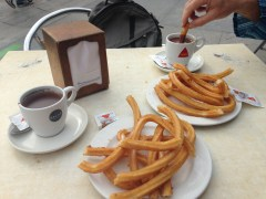 Churros and chocolate - yummy!