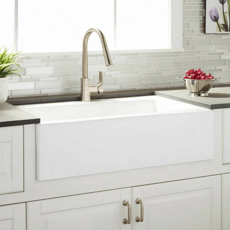 cast iron white farmhouse sink