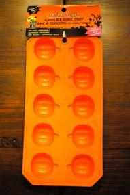pumpkin ice cube tray