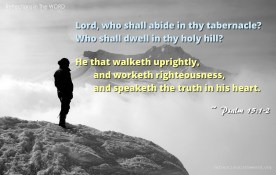 Psalm 15:1-2