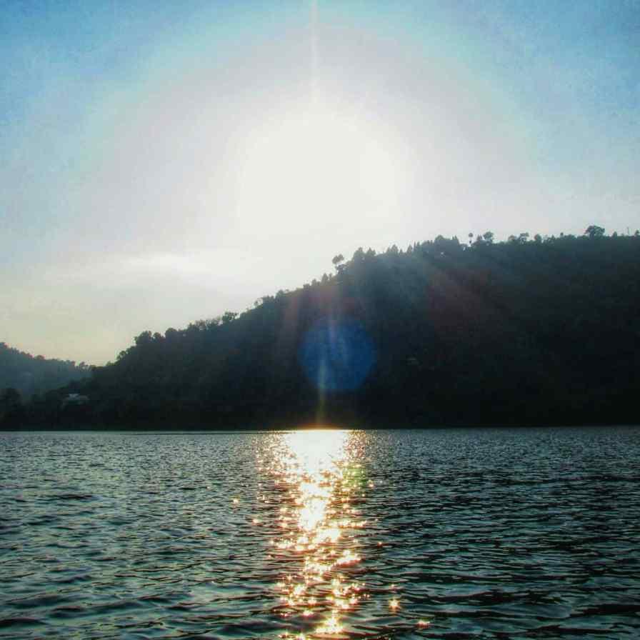 Sun rays falling on the sea
