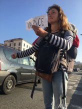 Hitching, France, March 2017