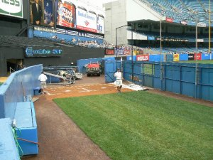 The bullpen at the Old Yankees Stadium Photo Credit: Steve Contursi