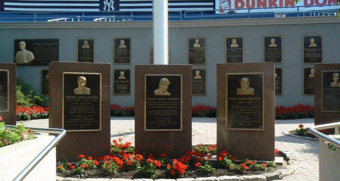 Yankee Stadium Monument Park (Steve Contursi, Reflections On Baseball)