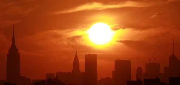New York City Skyline Yankees