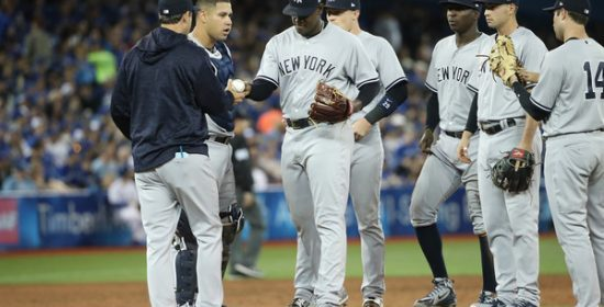 Luis Severino gets the hook, Game 4. Photo credit: Forbes