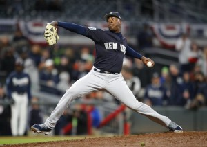 Aroldis Chapman, New York Yankees Closer Photo Credit: Todd Kirkland/AP.