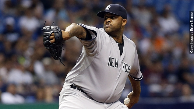 CC Sabathia, New York Yankees Photo Credit: USA Today