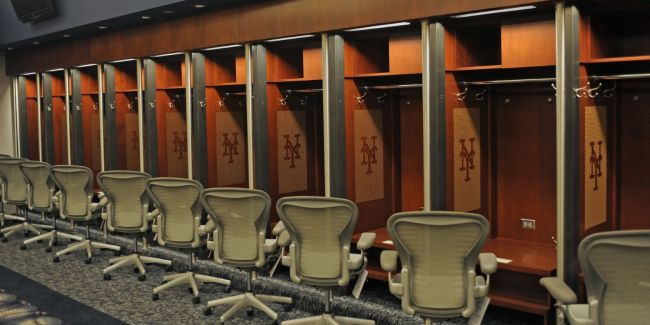 New York Mets Clubhouse (Photo Credit: New York Daily News)