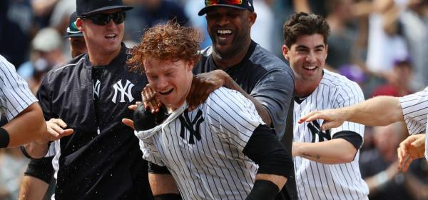 Clint Frazier's Powerful Bat. Does he have the power to save himself? (Photo: SI.com)