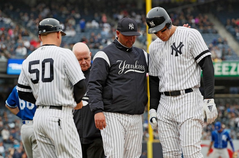 Aaron Judge, Left Oblique Injury 4/20.2019 (Photo: Chat Sports)