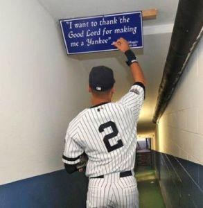 Derek Jeter - for the cameras - or not? (Photo: pinterest.com)