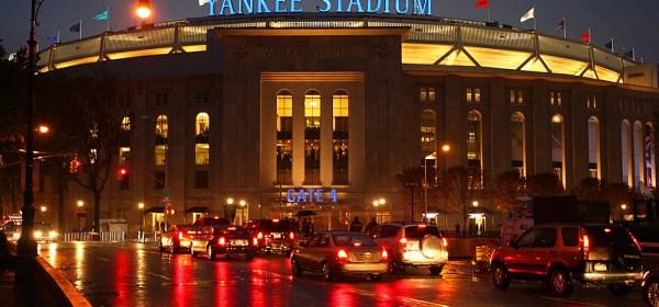 Yankee Stadium in the rain (Photo: Brad Mangin)