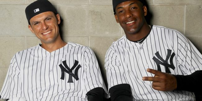 Exiled Yankees Greg Bird and Miguel Andujar (Photo: Elite Sports NY)