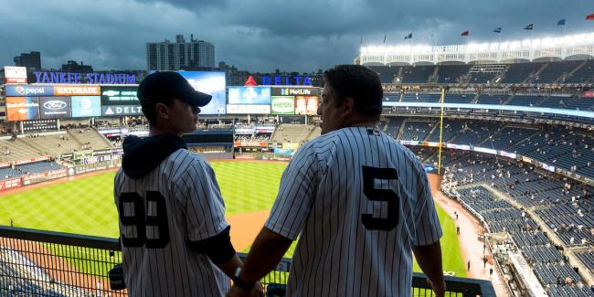 Generations tied together by the Yankees (Photo: Ira Block Photography)