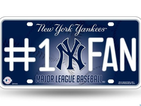Yankees License Plate