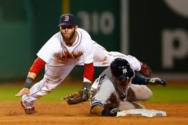 Derek Jeter Barrels Hard Into Dustin Pedroia (Photo: zimbia.com)