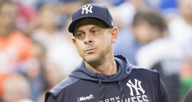 Aaron Boone - A Lot On His Plate (Photo: CBS Sports)